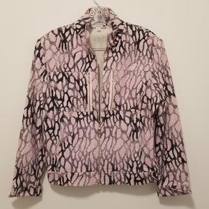 ST JOHN SPORT Pink & Gray Sparkly Jacket (sz M)